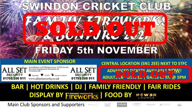 Family Fireworks & Bonfire Night 2021 - SOLD OUT