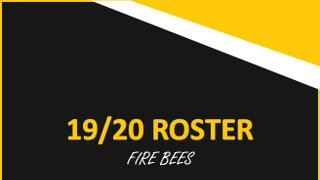 Fire Bees Roster!
