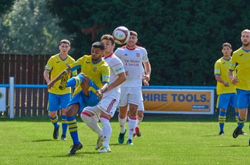 Tyler Johal in action for Carlton Town.