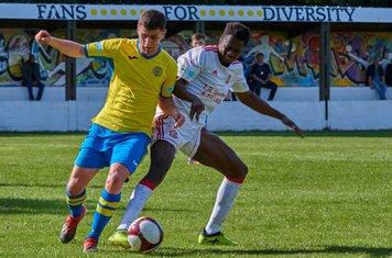 Alberto Seidi in action for Lincoln United.