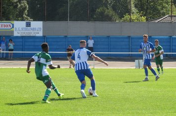 Sam Finlaw in action for Staveley Miners Welfare.