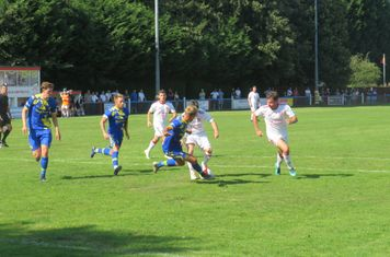 Taron Hare and Kallum Smith in action.