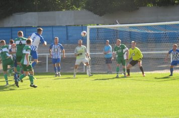 Goalmouth action late on.