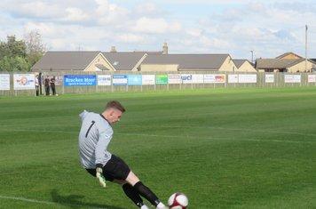 Jacob Carney taking a goal kick.