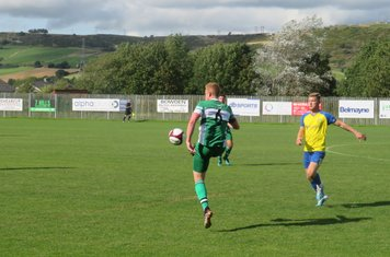Michael Jacklin in action for Lincoln United.
