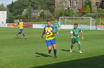 Joshua Nodder in action for Stocksbridge Park Steels.
