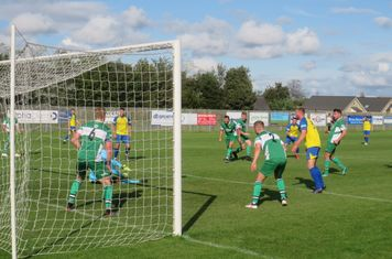 Ollie Battersby pulling off a good save.