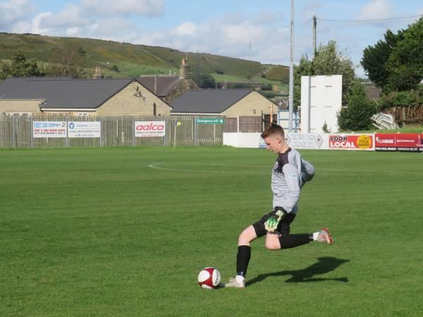 Jacob Carney taking a free kick.