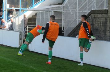 Matt Wilson, Danny Horton and Jock Curran warming up.