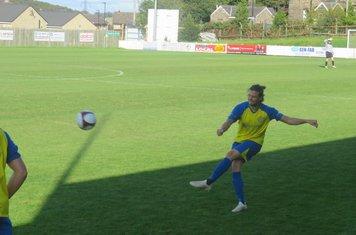 Michael Trench taking a free kick.