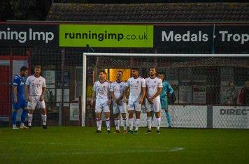 Sam Tingle, Noel Burdett, Harry Millard and Johnathan Williams in the wall.