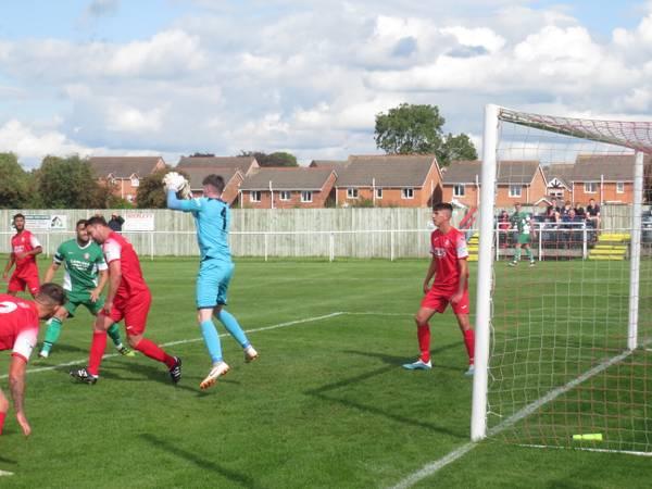 Ash Rawlins catching the ball.