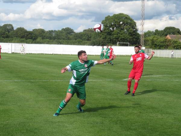 Harry Millard in action for Lincoln United.