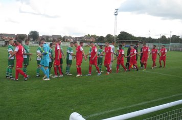 Handshakes before kick off.