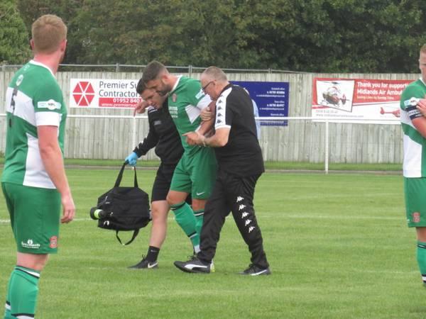 Matt Wilson hobbling off injured.