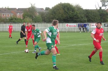 Noel Burdett in action for Lincoln United.