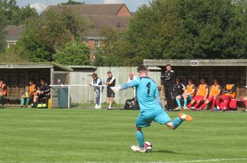 Ash Rawlins taking a free kick.