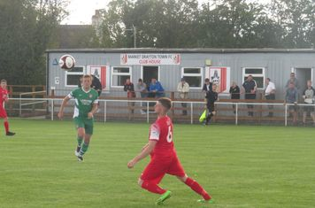 Matt Ballard in action for Market Drayton Town.