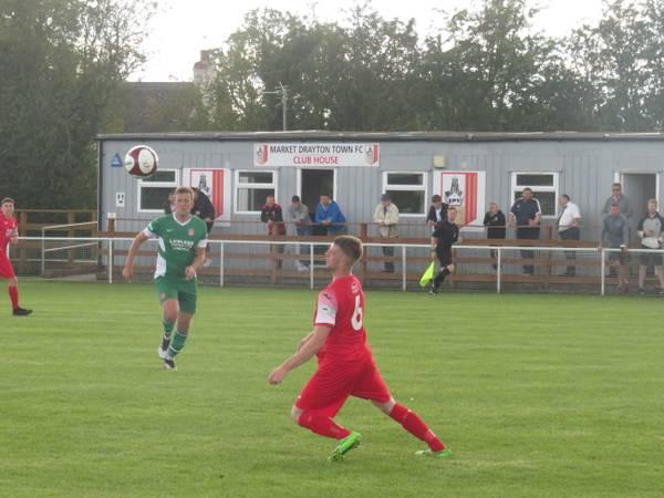 Matt Ballard in action for Market Drayton Town.