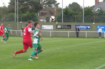 Jack Wightwick in action for Lincoln United.