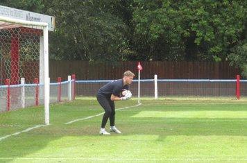James Harrison warming up.
