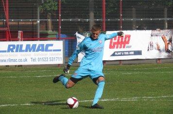 Ollie Battersby taking a free kick.