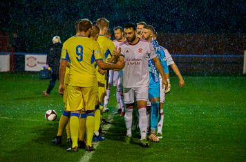 Handshakes before kick off.