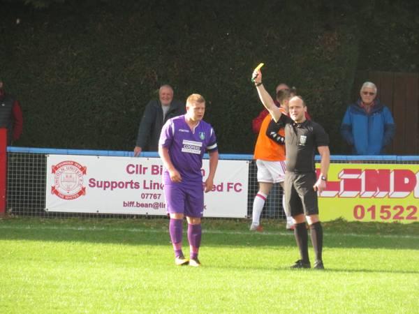 Anthony Malbon's yellow card.