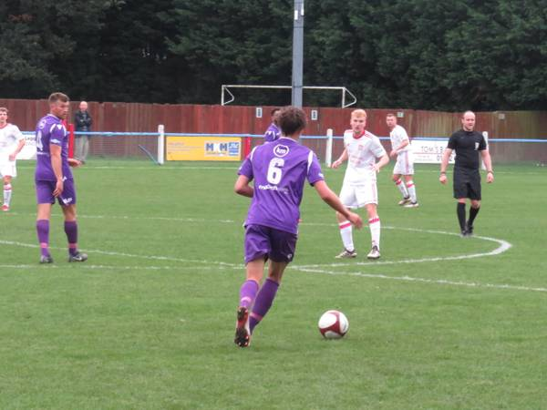 James Butler with time on the ball.