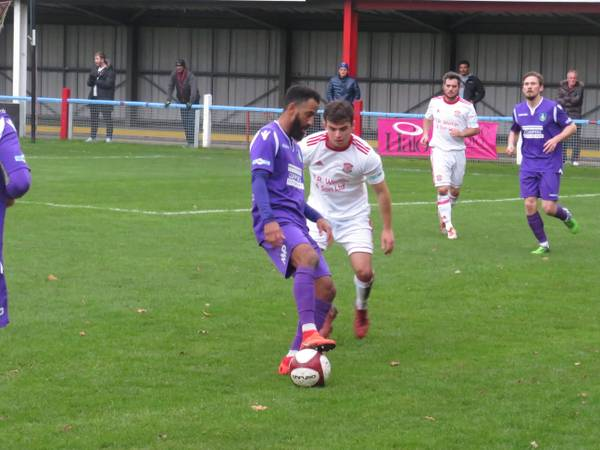Lee Williamson on the ball.