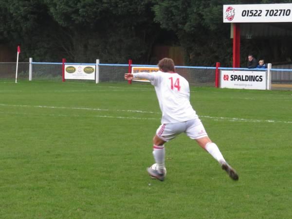 Johnathan Williams taking a free kick.