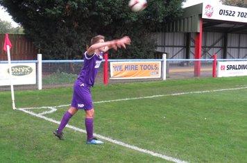 Alex Morris taking a throw in.