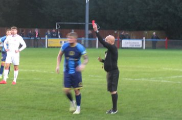 Alex Marshall's red card.