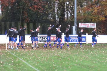 Chasetown warming up.