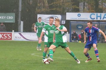 Jamie Goddard in action for Lincoln United.