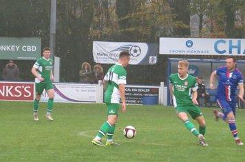 Noel Burdett on the ball.
