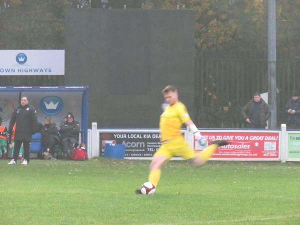 Curtis Pond taking a free kick.