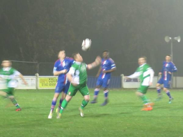 Nathan Jarman in action for Lincoln United.