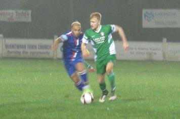 Jamie Goddard on the ball.