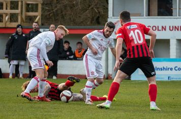 Kallum Smith in action for Lincoln United.