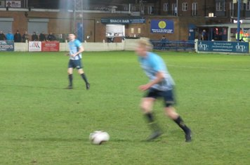 Nathan Stainfield on the ball.