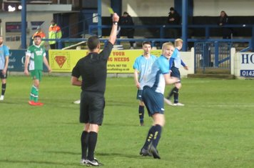 Nathan Stainfield's yellow card.