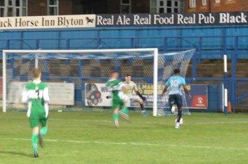 Jordan Adebayo-Smith about to score.