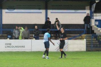 Jordan Adebayo-Smith's yellow card.