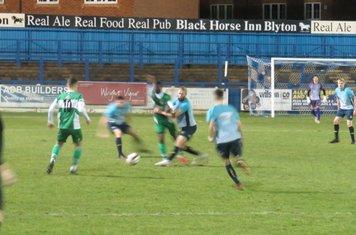 Kingsley James making a tackle.