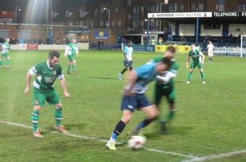 Geno Robinson in action for Gainsborough Trinity.