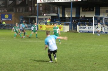 Jamie Green whipping in a free kick.
