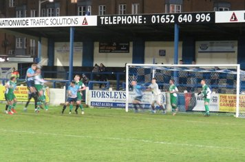 Nathan Stainfield's header that flew wide.