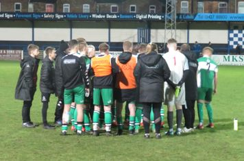 Lincoln United before the penalty shootout.