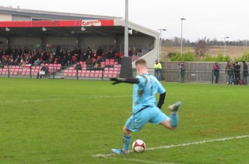 Tiernan Brooks taking a goal kick.
